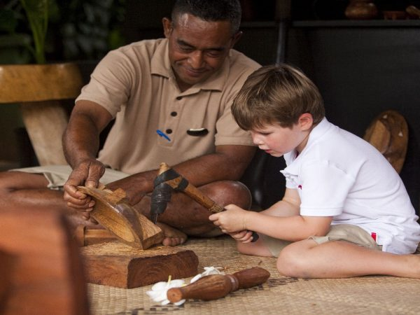 Laucala Island Cultural Center Wood Carving