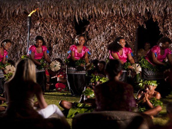 Laucala Island Fijian Cultural Night Fan Dance Performance