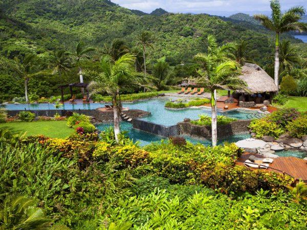 Laucala Island Hilltop Estate Aerial