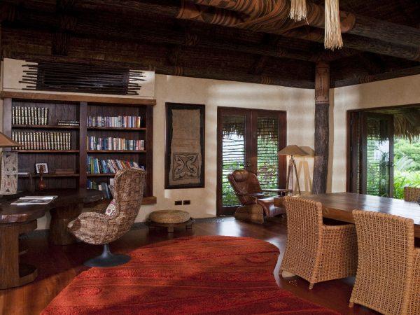 Laucala Island Hilltop Estate Library