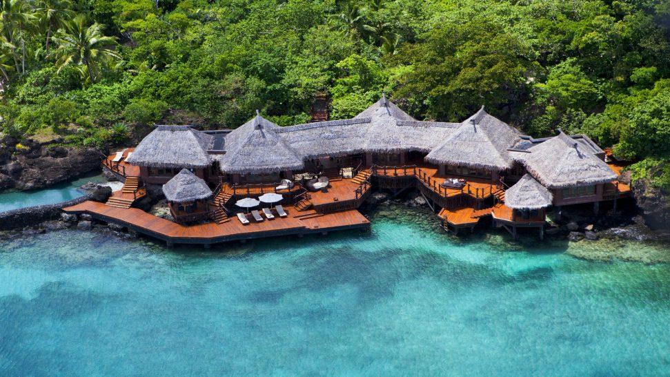 Laucala Island Overwater Villa Aerial
