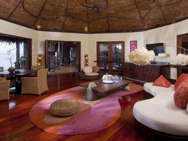 Laucala Island Overwater Villa Lounge