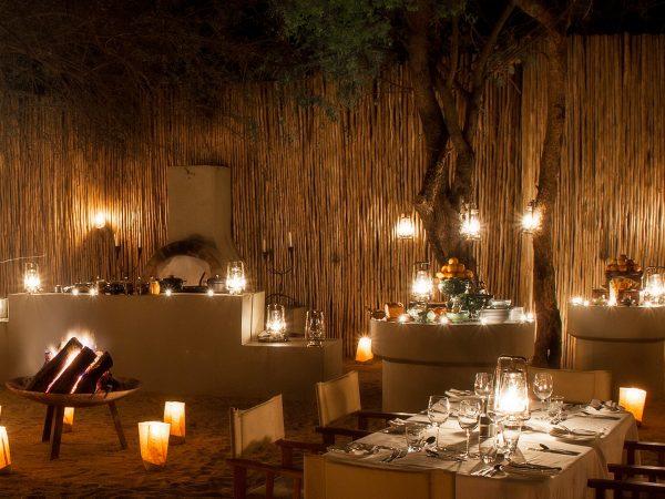 Londolozi Tree Camp Night Dinner