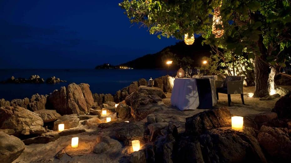 Four Seasons Resort Koh Samui Thailand Once In A Blue Moon Dinner