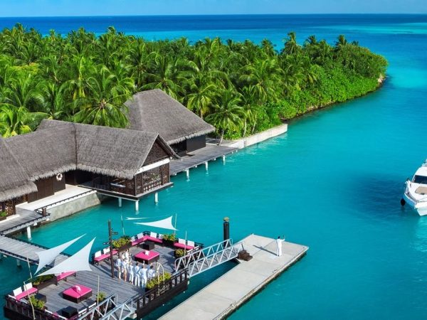 One and Only Reethi Rah Maldives pool arrival jetty
