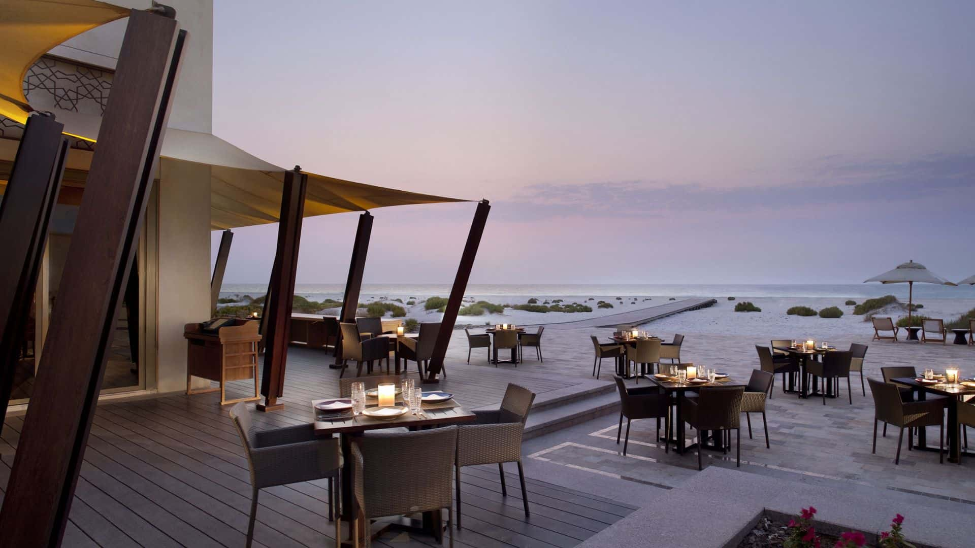 Park Hyatt Abu Dhabi Hotel Beach House Sunset