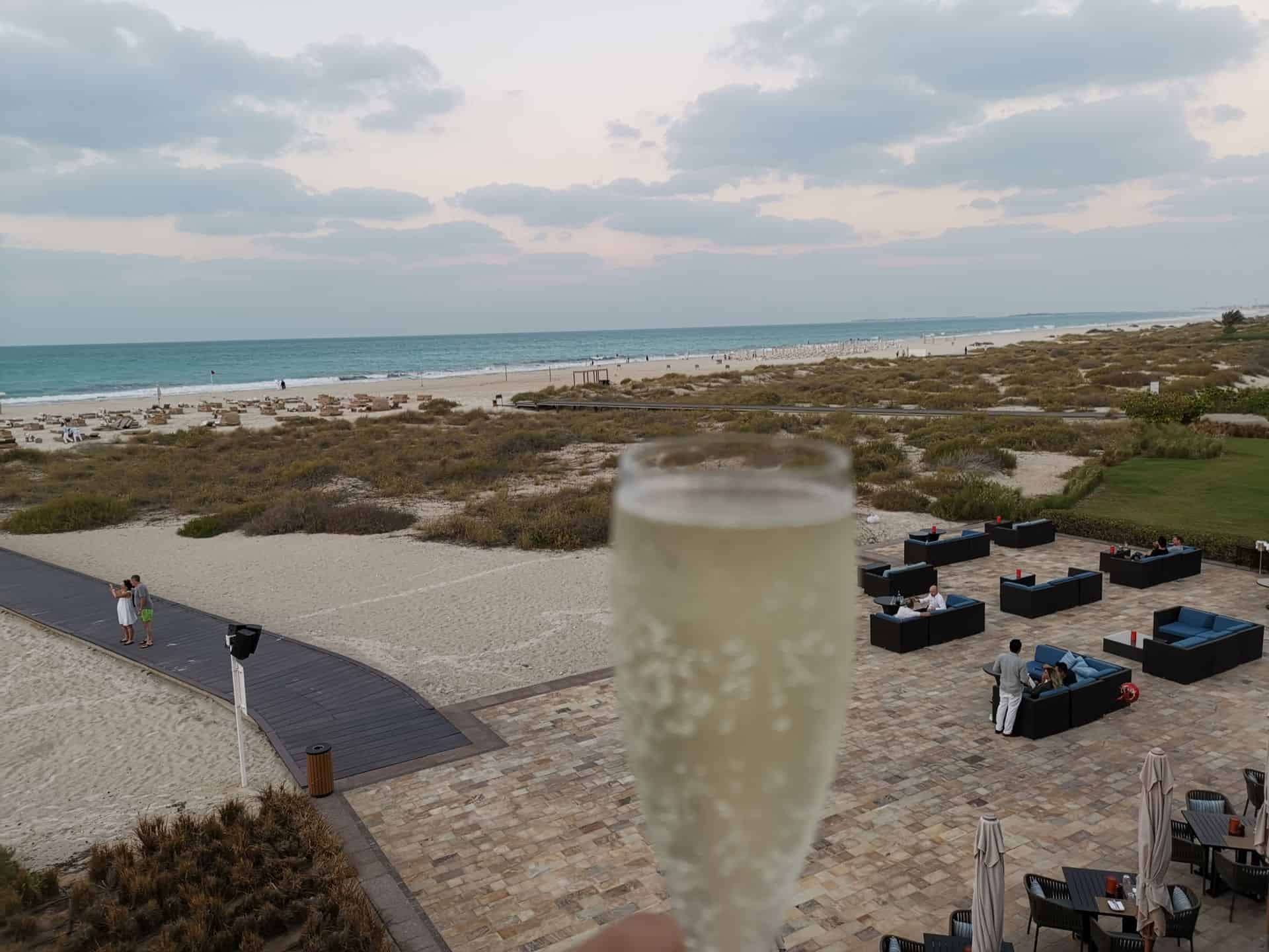 Park Hyatt Abu Dhabi Hotel Beach House Rooftop Bar Sunset Toast