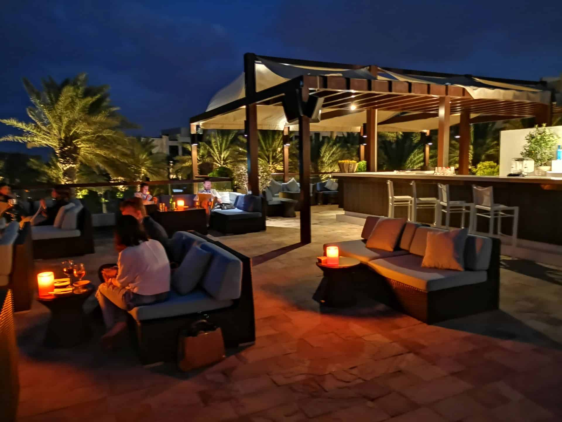 Park Hyatt Abu Dhabi Hotel Beach House Rooftop Bar Sunset