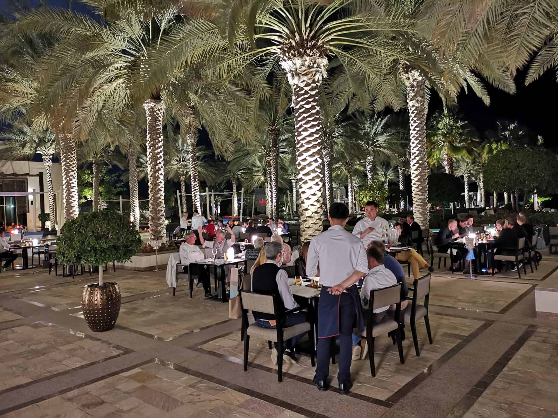 Park Hyatt Abu Dhabi Park Grill outdoor seating
