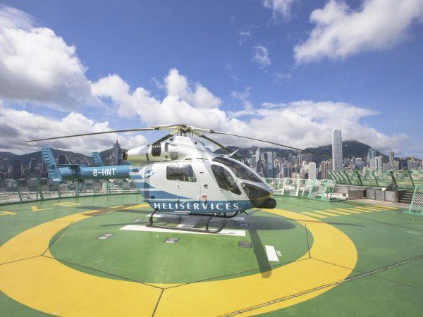 The Peninsula Helicopter on helipadThe Peninsula Helicopter on helipad