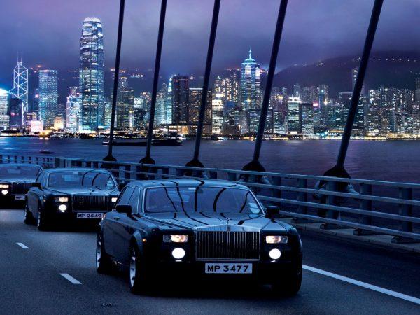 The Peninsula Hong Kong The Rolls Royce Fleet on Tsing Ma Bridge