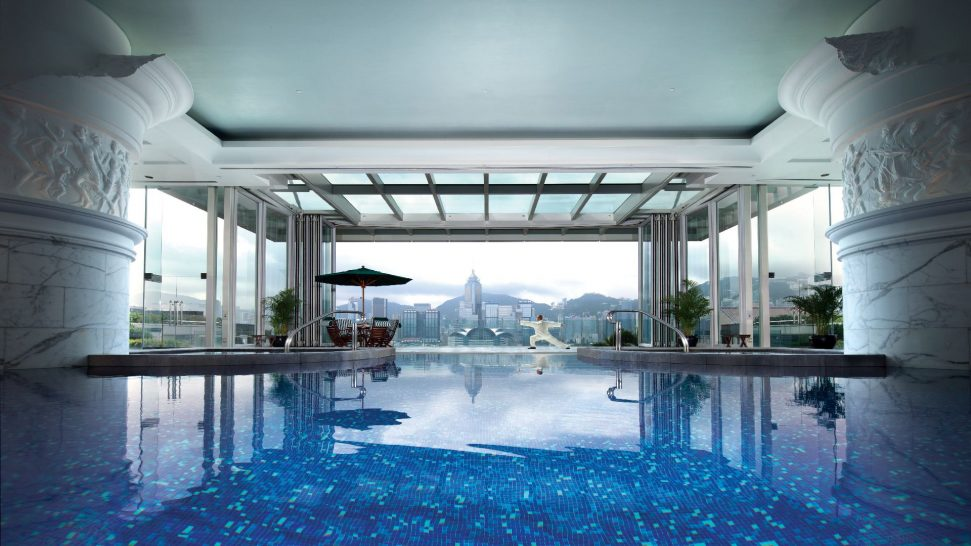 The Peninsula Hong Kong Victoria Harbour View from The Pool