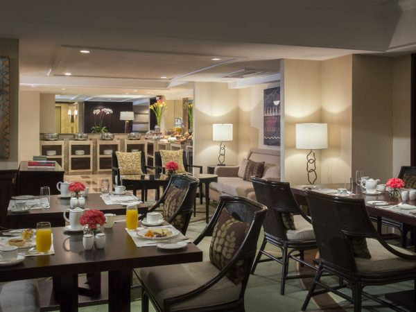 Peninsula-Manila Club Lounge Dining Area
