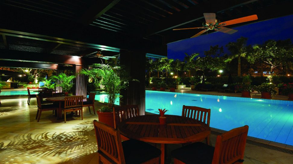Peninsula Manila Poolside Night