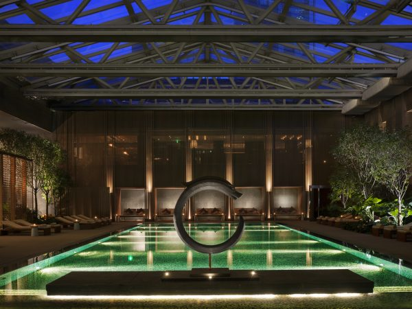 Rosewood Beijing Night Pool View