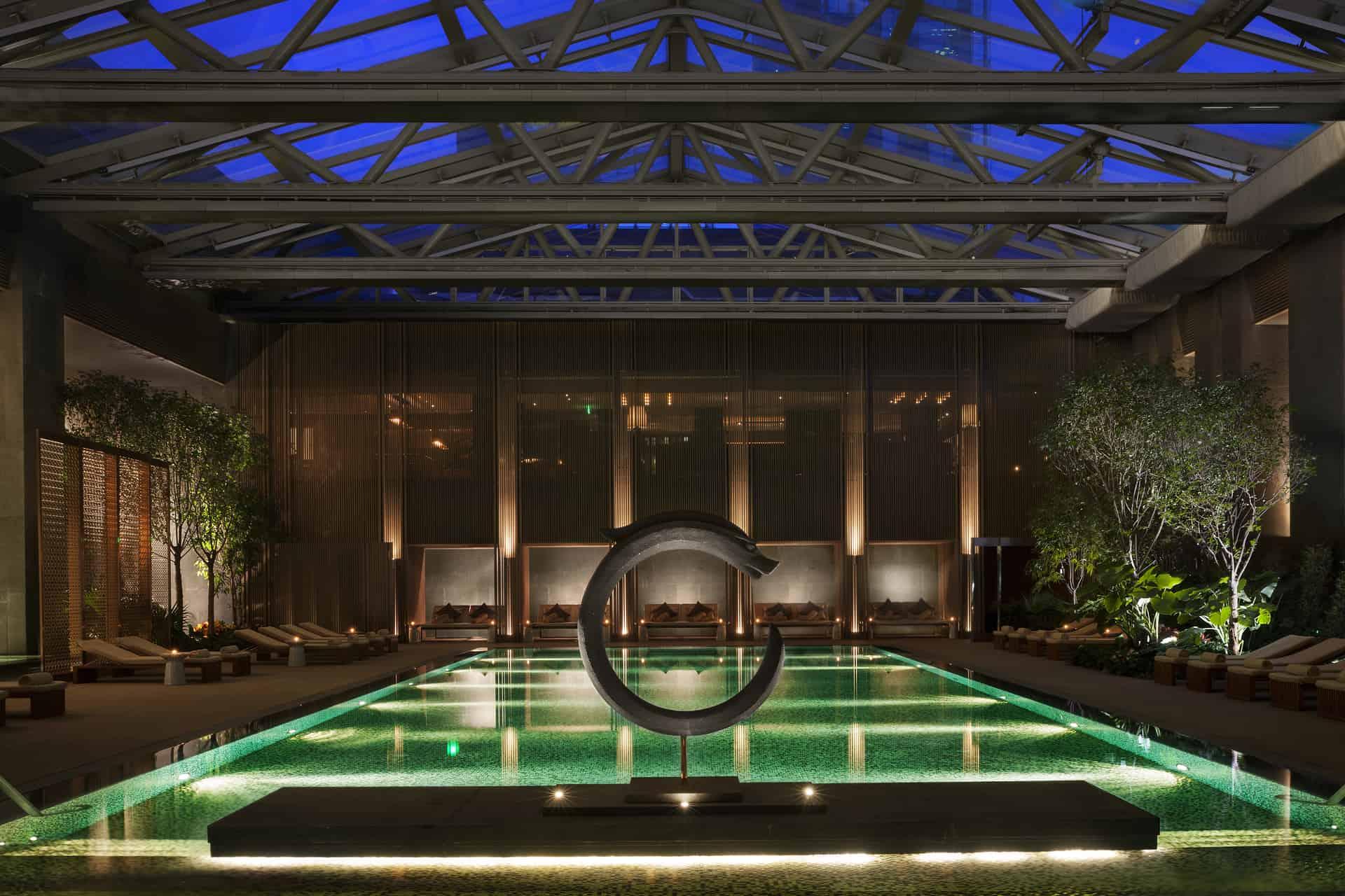 Rosewood Beijing Night Pool View