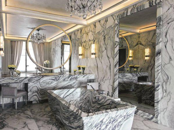 Rosewood Hotel de Crillon bathroom karl lagerfeld suite