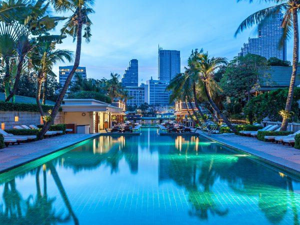 The Peninsula Bangkok The Pool Night