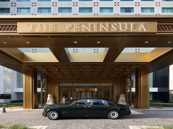 The Peninsula Beijing Entrance and Rolls Royce