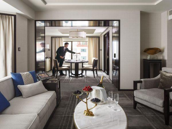 The Peninsula Beijing Living room of the Beijing Suite