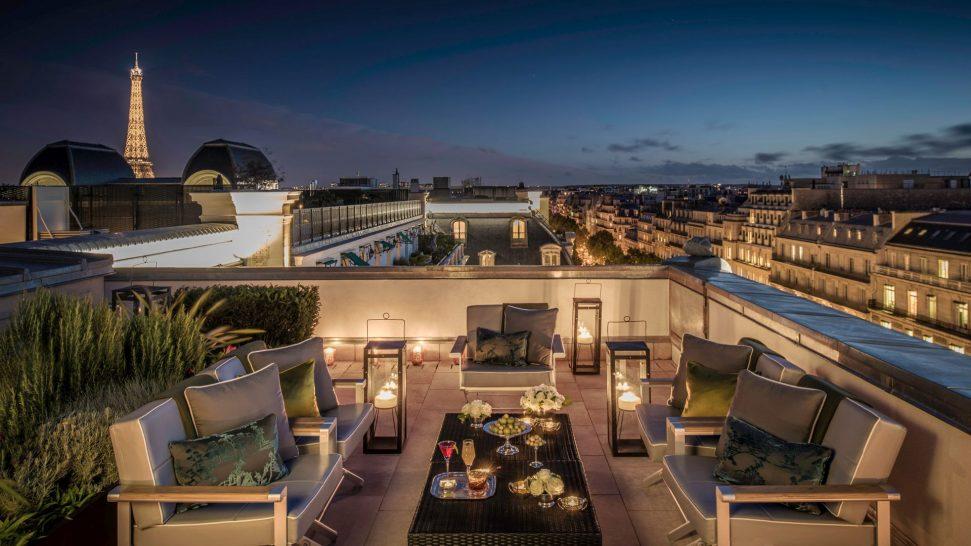 The Peninsula Paris Rooftop garden suite