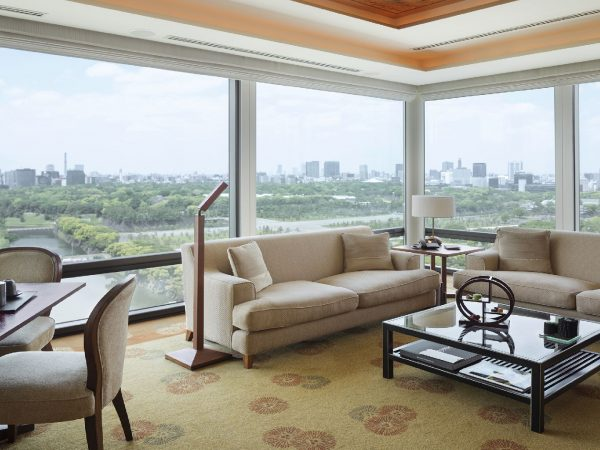 The Peninsula Tokyo Deluxe Suite Living Room Area Day