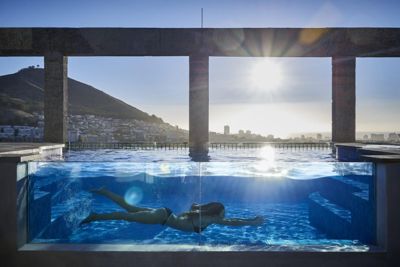 The Silo Hotel Glass Pool