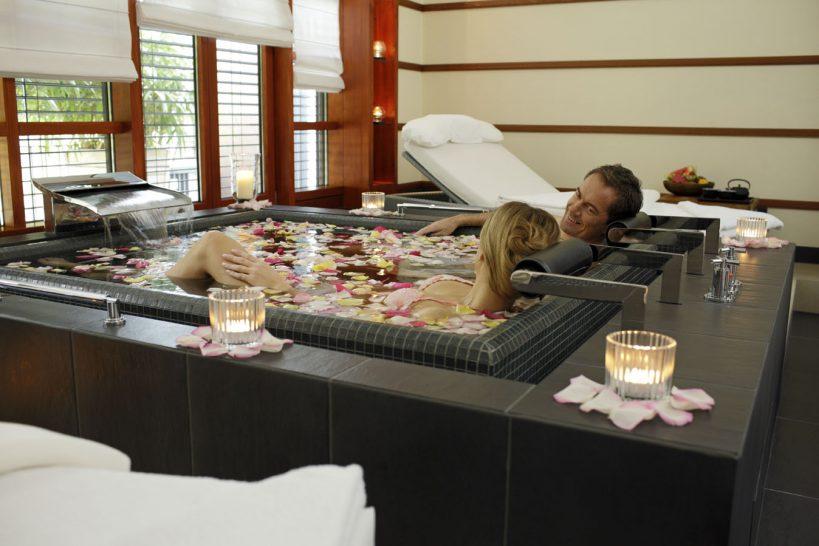 Victoria Jungfrau Grand Hotel Rose Petal Spa Bath