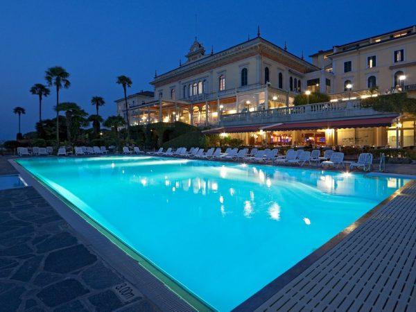 Villa Serbelloni Pool night
