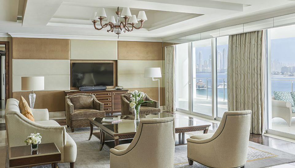 Waldorf Astoria Dubai Palm Jumeirah Chairman Suite Living Room