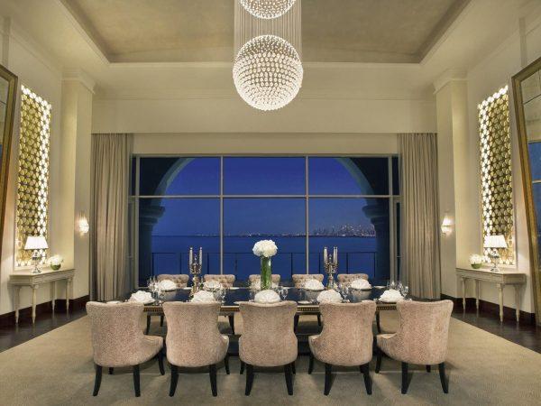 Waldorf Astoria Dubai Palm Jumeirah Royal Suite Dining Room