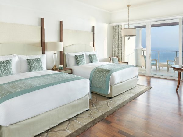 Waldorf Astoria Dubai Palm Jumeirah Two Queen bed deluxe with palm sea view