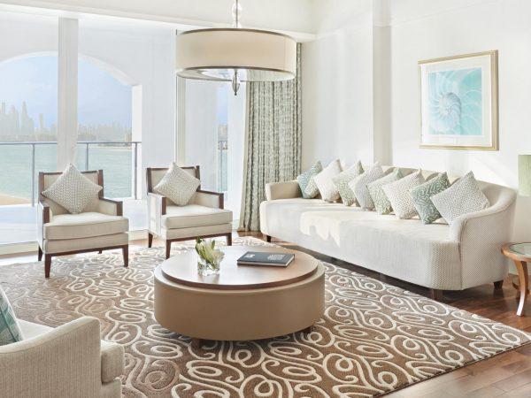 Waldorf Astoria Dubai Palm Jumeirah king primium Suite Living Room