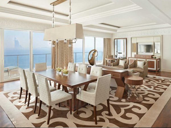 Waldorf Astoria Dubai Palm Jumeirah suit sea view Livingroom