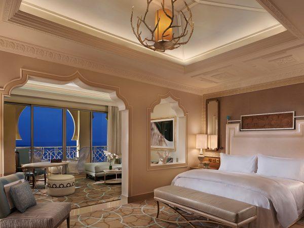 Waldorf Astoria Ras Al Khaimah Junior Suite Sea View Balcony Night
