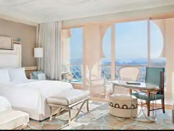 Waldorf Astoria Ras Al Khaimah family deluxe with golf view balcony