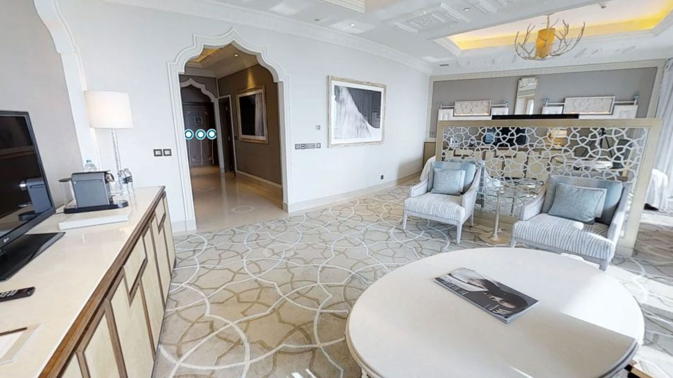Waldorf Astoria Ras Al Khaimah king deluxe room with sea view and balcony