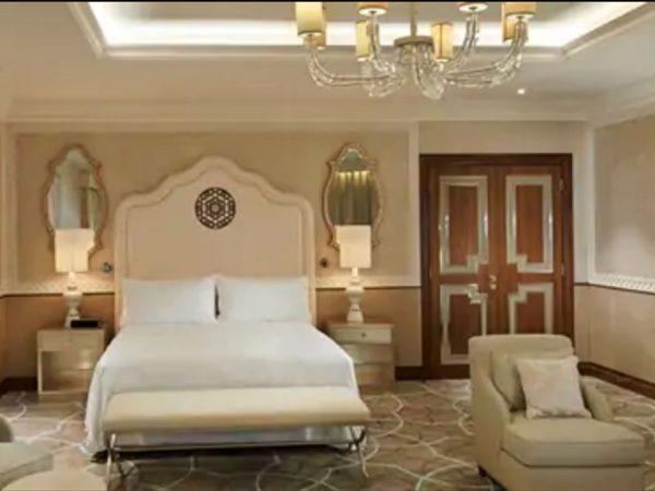 Waldorf Astoria Ras Al-Khaimah king tower suite with sea view and balcony