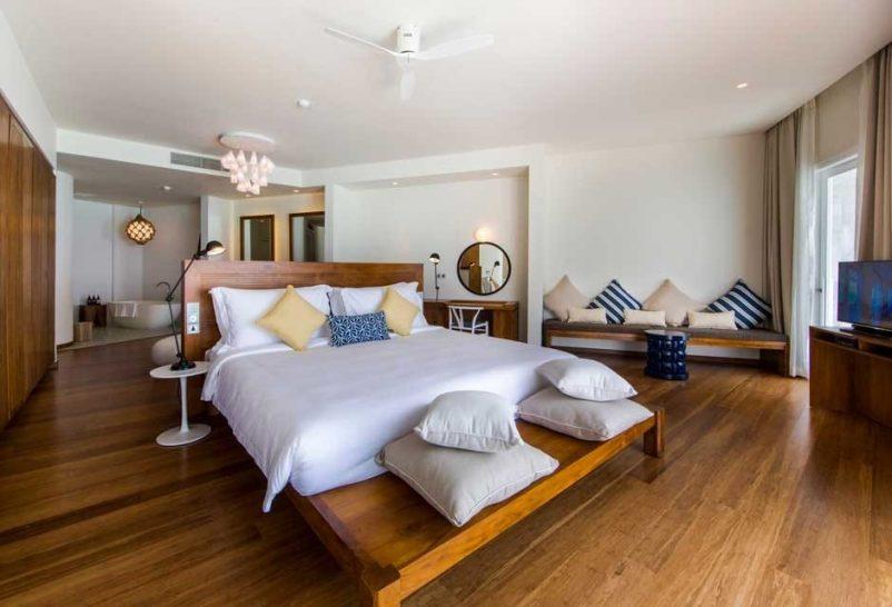 Amilla Fushi Maldives ocean lagoon Bedroom