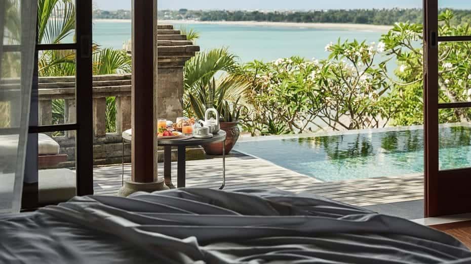our Seasons Resort Bali at Jimbaran Bay Two-Bedroom Jimbaran Bay in room dining
