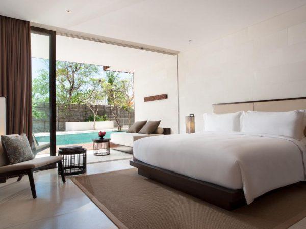 Alila Seminyak king bed deluxe room