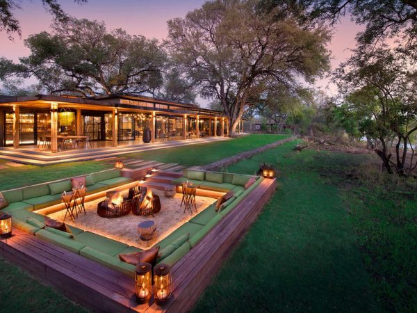 AndBeyond Tengile River Lodge firepit