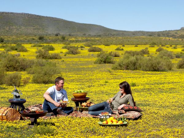 Bushmans Kloof South Africa flower picnic