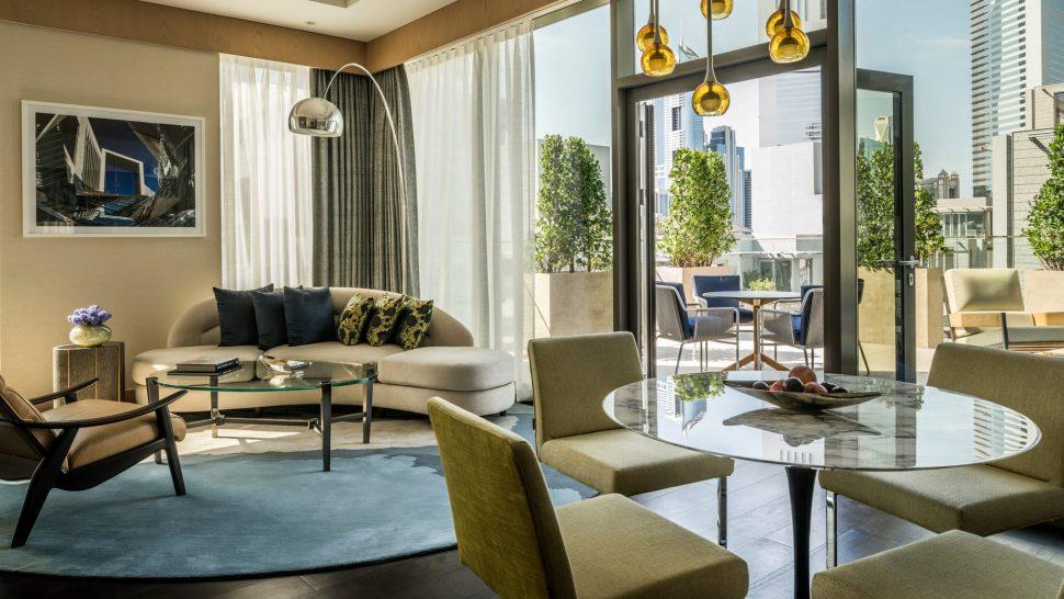 Four Seasons Hotel Dubai International Financial Centre deluxe terrace suite