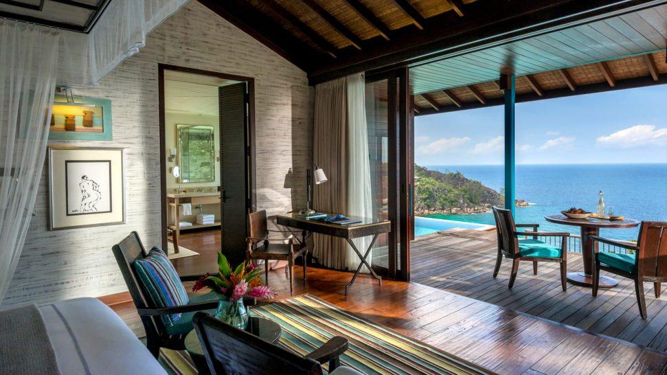 Four Seasons Resort Seychelles Hilltop ocean view villa