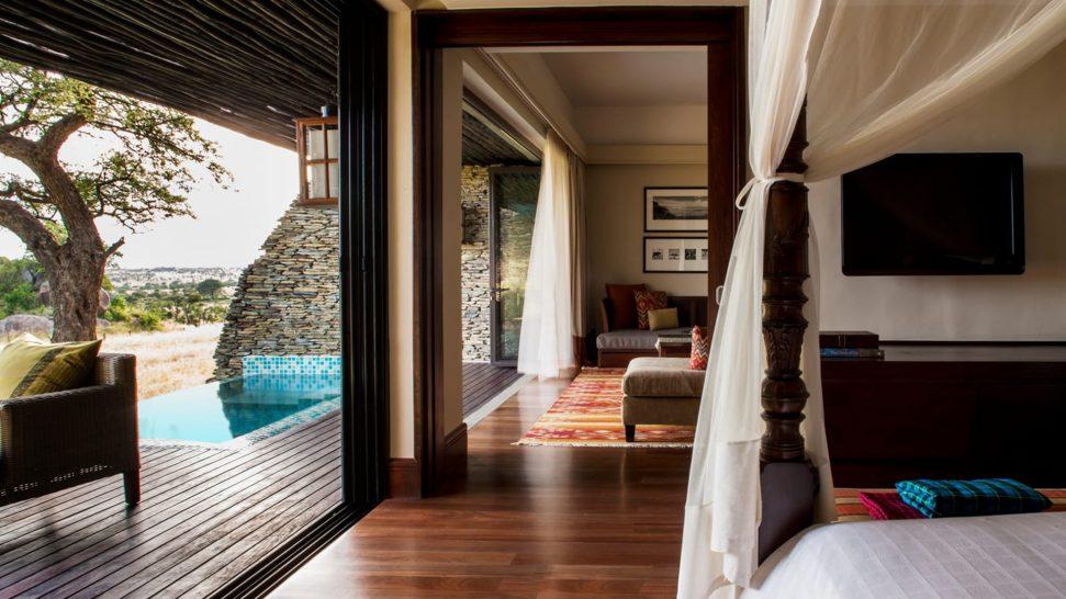Four Seasons Safari Lodge Serengeti Terrace Suite Water Hole View