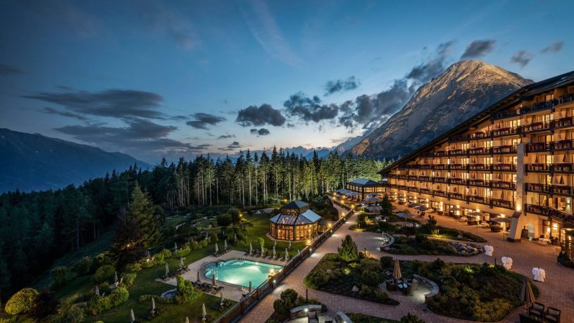 Interalpen Hotel Tyrol Panorama Sunset