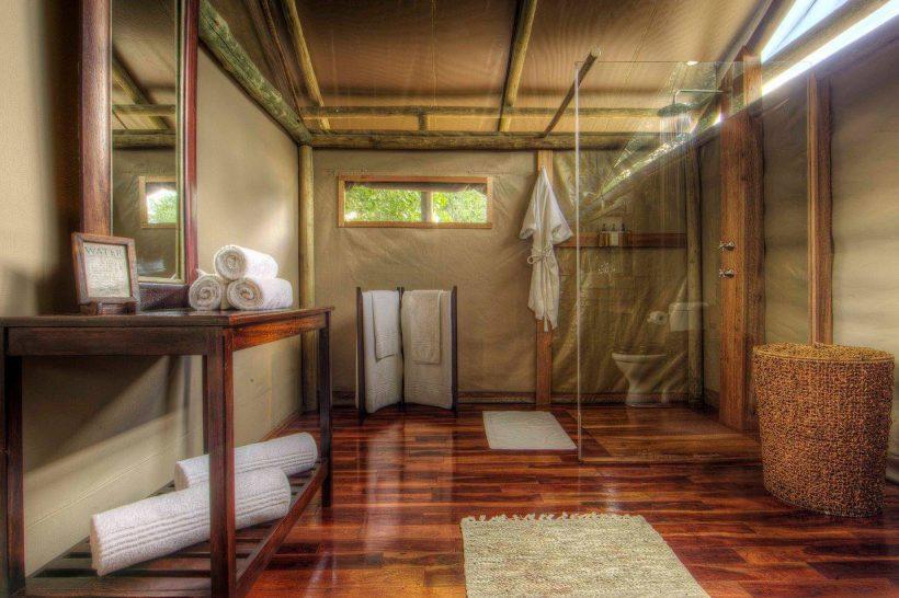 Ker and Downey Botswana Shinde Camp Tent Bathroom
