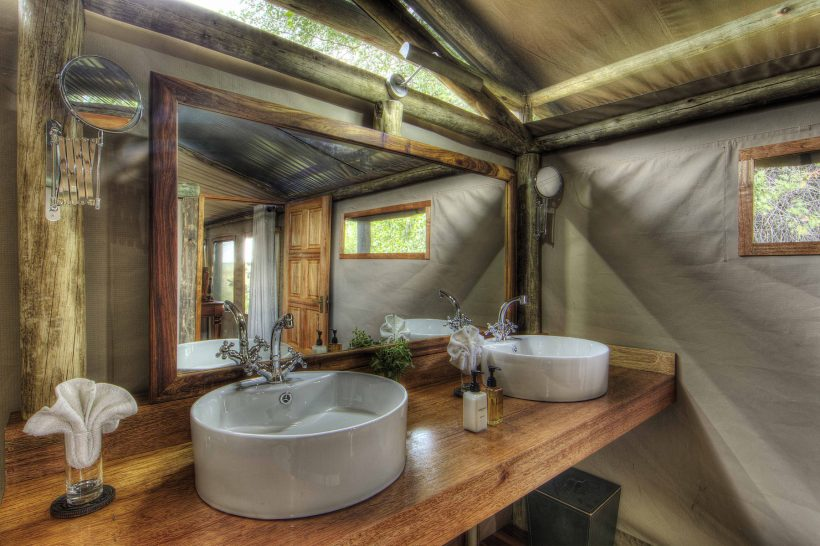 Ker and Downey Botswana Shinde Camp Tent Bathrooms