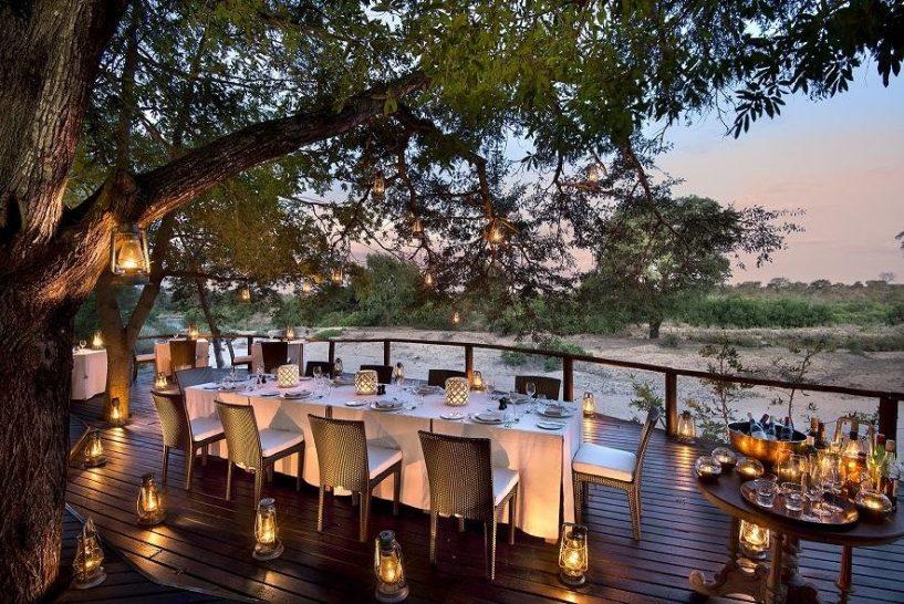 Lion Sands River Lodge Deck Dining